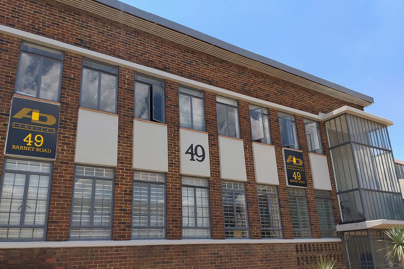 A&D sign on building